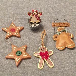 Gingerbread Men & Stars Christmas Ornaments 5